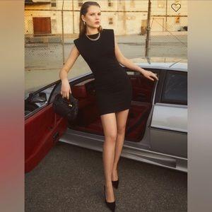 Reformation Rumi Black Mini Dress NWOT